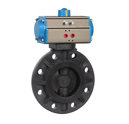 Plastic pneumatic butterfly valve ZMAD71XS