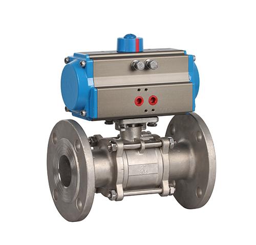 Flange three-piece pneumatic ball valve model ZMAQ41F