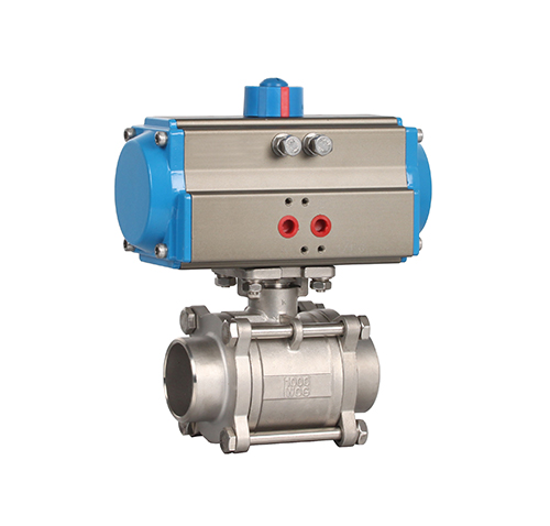 Welded three-piece pneumatic ball valve ZMAQ61F