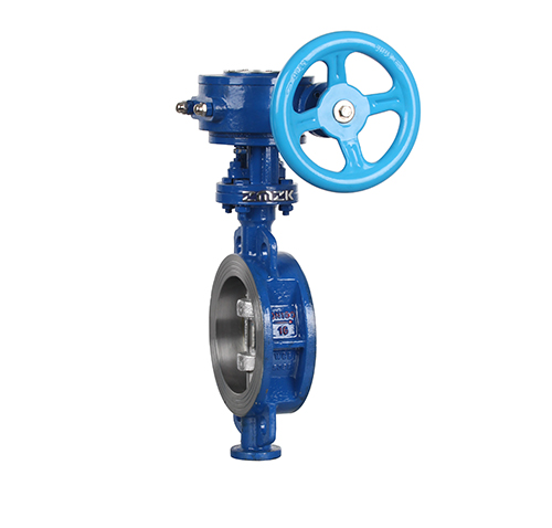 Wafer type hard seal worm gear butterfly valve ZMD373H