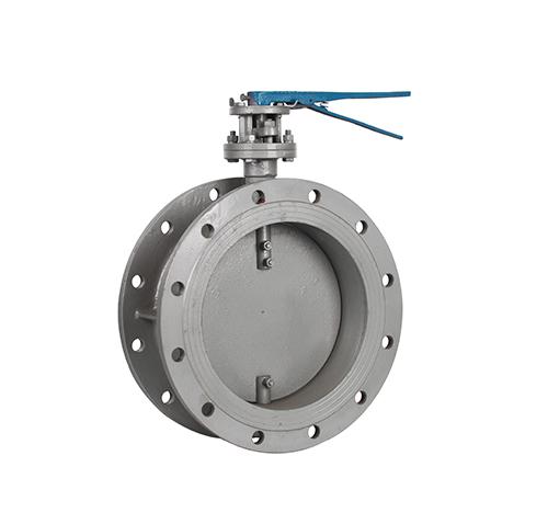 Manual flange ventilation butterfly valve
