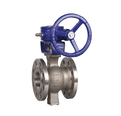 Flanged V-type worm gear ball valve ZMVQ47H