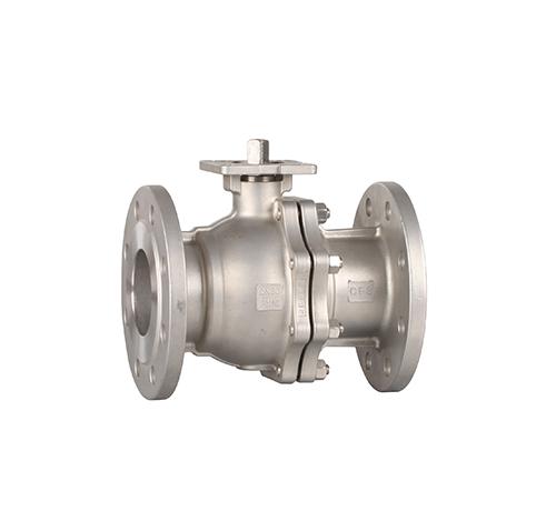 Flanged high platform manual ball valve