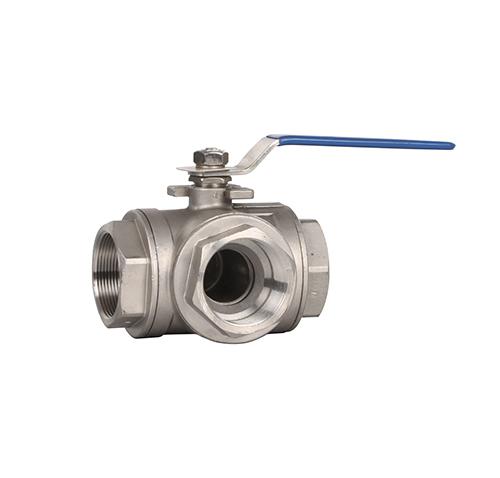 Q14/5F manual three-way thread ball valve