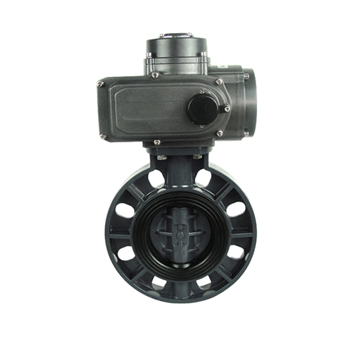 Plastic electric butterfly valve