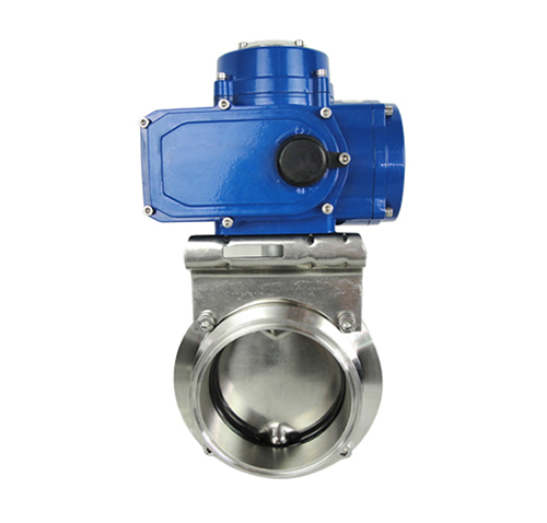 D981X sanitary grade electric butterfly valve