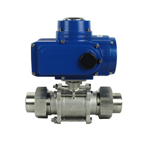External thread electric ball valve