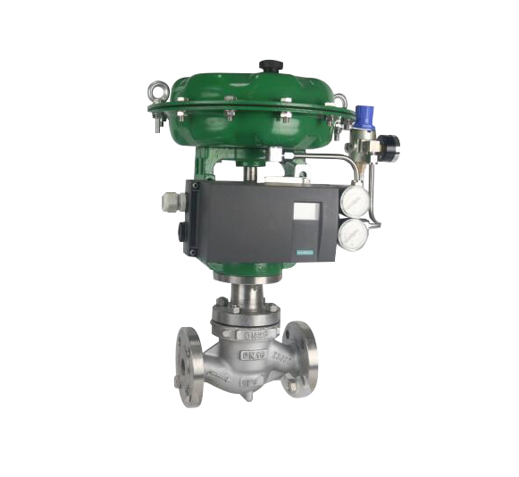 Single-seat pneumatic control valve