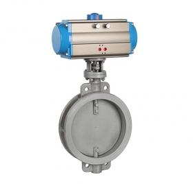 Wafer type pneumatic ventilation butterfly valve ZMATD71W