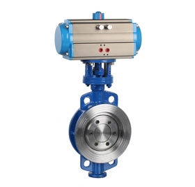 Wafer type hard seal pneumatic butterfly valve ZMAD73H-16C