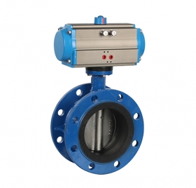 Flanged soft seal pneumatic butterfly valve ZMAD41X