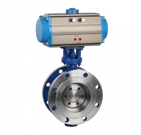 D643H hard seal pneumatic flange type butterfly valve