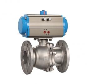 Q641F high platform flange pneumatic ball valve