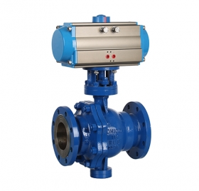 Flange fixed pneumatic ball valve ZMAQ47F
