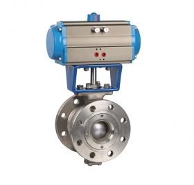 VQ647H flange V-type pneumatic ball valve