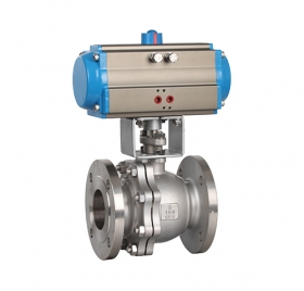 Q641F flange pneumatic ball valve