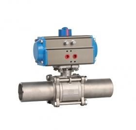 Welding extended pneumatic ball valve ZMAQ61FJC