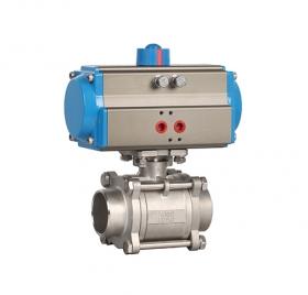 Welded three-piece pneumatic ball valve ZMAQ61F