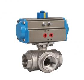 Threaded three-way pneumatic ball valve ZMAQ15F