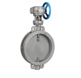 Turbine pair clamp ventilation butterfly valve