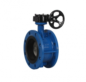 Flange type soft seal worm wheel butterfly valve ZMD341X