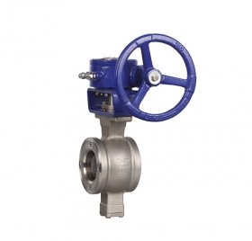 Wafer type V-type worm gear ball valve ZMVQ377H