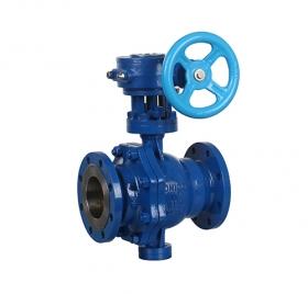 Flange fixed worm gear ball valve ZMQ347F