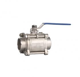 Welded three-piece ball valve ZMQ61F