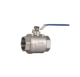 Threaded two-piece ball valve