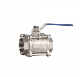 Q11F3 three-piece thread manual ball valve