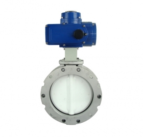Cement dust electric butterfly valve
