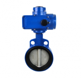 D971X clip soft seal electric butterfly valve