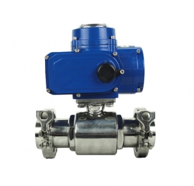 Hygienic electric ball valve