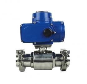 Hygienic electric ball valve