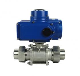 External thread electric ball valve