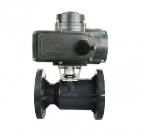 Flange plastic electric ball valve
