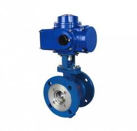 VQ947H flange V-type electric ball valve