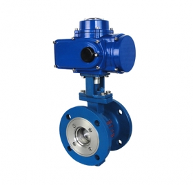 Q941F cast steel flange electric ball valve