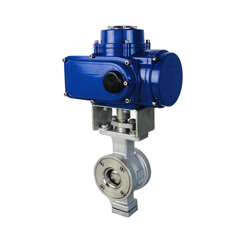 Pair V-type electric ball valve features